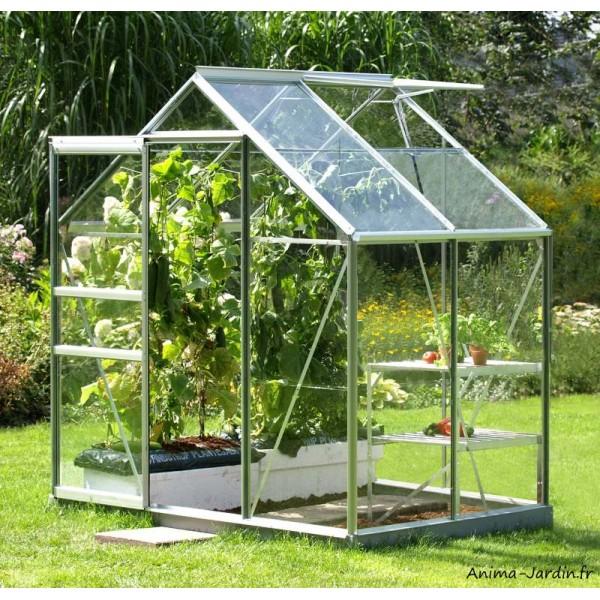 Serre Jardin Aluminium Venus 2500 en verre horticole, 2,50m2 ...