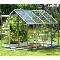Serre Jardin Aluminium Venus 5000 en verre trempé,5,00 m², Lams, achat