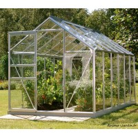 Serre Jardin Aluminium Venus 7500 en verre trempé, 7,50 m², Lams, achat
