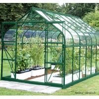 Serre de jardin en aluminium, 9,85 m², laqué vert, verre trempé, Aloé Diana, Lams, achat