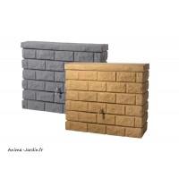 Récupérateur d'eau de pluie, imitation pierre, Mur Rocky, 400L, Graf, achat, pas cher