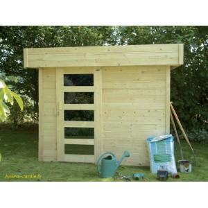 Abri de jardin en bois 28 mm, Bergen, toit plat, 5m², Solid, pas cher, achat, vente