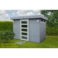 Abri de jardin en bois 19 mm, Lund, toit plat, 4,85m², Solid, pas cher, achat, vente