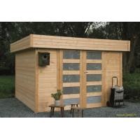 Abri de jardin en bois 28 mm, Odense, toit plat, 9m², Solid, pas cher, achat, vente