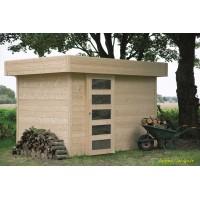 Abri de jardin en bois 28 mm, Oslo, toit plat, 6m², Solid, pas cher, achat, vente