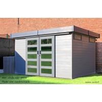 Abri de jardin en bois 19 mm, Sjobo, toit plat, 8,39m², Solid, pas cher, achat, vente