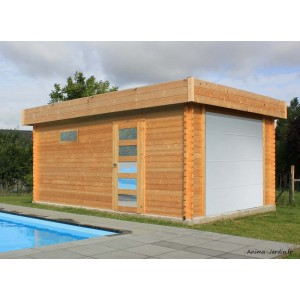 Garage bois, MODERNE, toit plat, 17m², Solid, achat/vente, pas cher