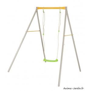 Portique en métal, Allegro, 1,90 m, 1 balançoire, Agility, Trigano, jeu plein-air, achat, pas cher