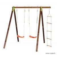 Portique, bois/métal, Xylo, 2,30 m, 3 agrès, Trigano, jeu plein-air, achat, pas cher