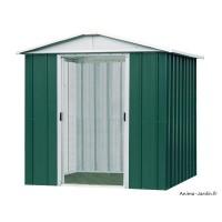 Abri métal vert 4,38 m²