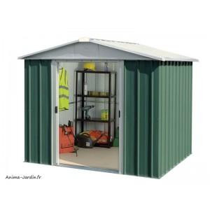 Abri métal vert 5,25 m²