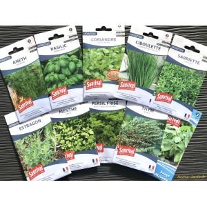 Lot de 10 paquets graines, aromatiques, potager, jardin ouvrier, Sanrival, pas cher, économique