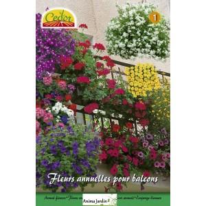 m lange de fleurs semer annuelles pour balcon multi couleurs achat vente cedor. Black Bedroom Furniture Sets. Home Design Ideas