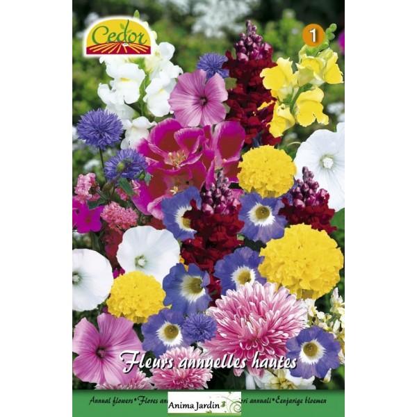 m lange de fleurs semer annuelles hautes multi couleurs achat vente cedor. Black Bedroom Furniture Sets. Home Design Ideas