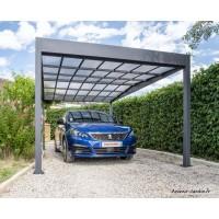 Carport en métal, Libeccio, gris anthracite, 15,8 m², abri voiture, Trigano, achat