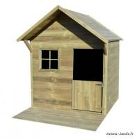 Maisonnette pour enfant, en bois autoclave, Jane, jeu, plein-air, Trigano, achat