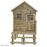 Maisonnette pour enfant, en bois autoclave, Lena, surélevée, jeu, plein-air, Trigano, achat