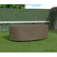 Housse de qualité pour table de jardin ovale, 230 x 130 cm, housse étanche, Nortene, pas cher, achat