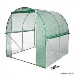 Serre tunnel maraîcher, 4 m², housse renforcée, serre de jardin, protection froid, potager, pas cher, Nature, achat