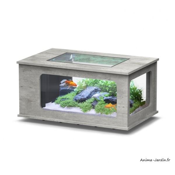 Aquarium Aquatable 100 X 63 Cm Capacite 177l Inclus Eclairage Et Filtre Aquatlantis Achat Pas Cher