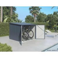 Coffre en métal, rangement vélos, 3,48 m², avec rails, achat, pas cher