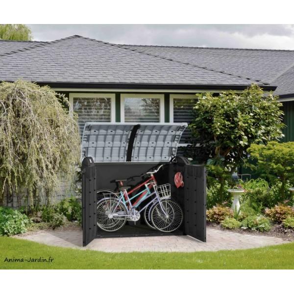 Coffre de rangement extérieur, résine, 2000L, multifonctions, Ultra Woodland, protection ...