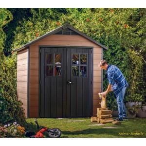 Abri en résine, Woodium 757, 4,04 m², aspect bois, abri de jardin, achat, pas cher