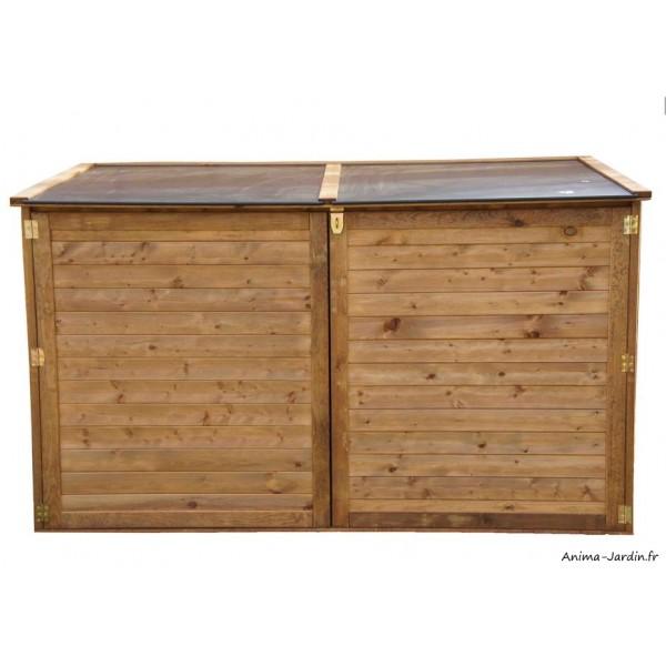 Coffre de rangement extérieur, en bois, autoclave, multifonctions, Trocadéro, coffre de jardin ...