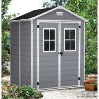 Abri en résine, Premium 65 DD, 2,3 m², gris et blanc, avec plancher, abri de jardin, achat, pas cher