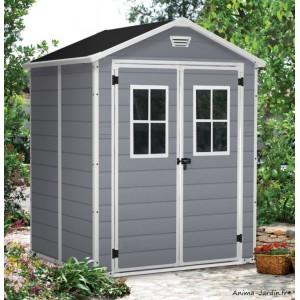 Abri en résine, Premium 65 DD, 2,3 m², gris et blanc, abri de jardin, achat, pas cher