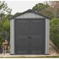 Abri en résine, Brossium 757, 4 m², gris, avec plancher, abri de jardin, achat, pas cher