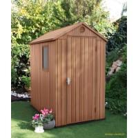 Abri de jardin en résine, Darwin 46, 1,9 m², marron, aspect bois, avec plancher, achat, pas cher