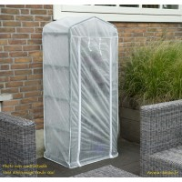 Voile d'hivernage pour serre de balcon, avec zip, blanc, hivernage, habillage de serre,  achat, pas cher