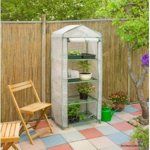 Petite serre de jardin et balcon, souple, housse renforcée, protection froid, pas cher, Nature, achat