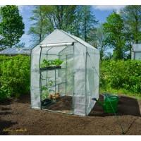 Serre de jardin souple, 2m², étagères, housse renforcée, serre pas cher, Nature, achat