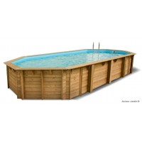 Piscine, Azura, 4,00 x 7,50 m, H.1,30m, rectangulaire, entourage bois, UBBINK, qualité, achat, vente, pas cher