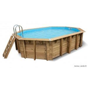 Piscine OCEA, 3,55x5,50 m, H120cm, entourage bois, UBBINK, qualité, achat, vente, pas cher