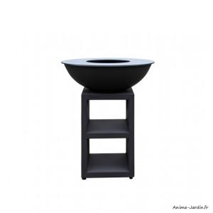 Braséro, Piatto medium black, ø 84 cm, Quoco, acier peint, braséro 3 en 1, plancha, barbecue, Fargau, achat