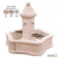Fontaine Bassin de jardin en pierre reconstituée , PROVENCE avec grille, achat/vente