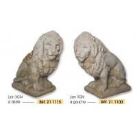 Statue LION en pierre reconstituée, achat/vente, décoration de jardin, grandon-Hairie