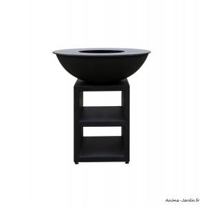 Braséro, Piatto large Black, ø 94 cm, Quoco, acier peint, plancha, barbecue, braséro 3 en 1, Fargau, achat, pas cher