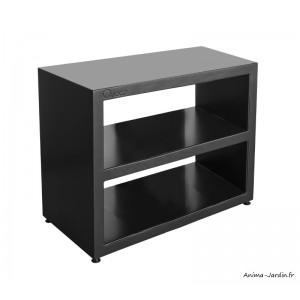 Meuble large en acier, plan de travail, Noir, 100 cm, surface de préparation, Quoco, Fargau, achat, pas cher