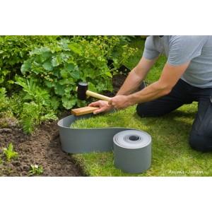 Bordure de jardin, gris, polyéthylène recyclé, flexible, bordure gazon, allée, pieds d'arbres, Nature Jardin, achat, pas cher