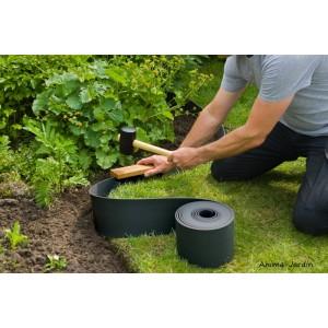 Bordure de jardin, noir, polyéthylène recyclé, flexible, bordure gazon, allée, pieds d'arbres, Nature Jardin, achat, pas cher