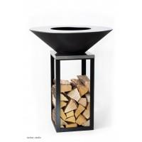 Barbecue 2 en 1, Fyro Noir, ø 100 cm, inox, barbecue, plancha, BGS, achat, pas cher