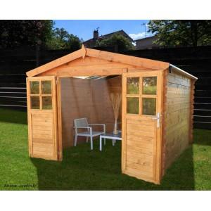 Abri de jardin en bois, Soleil, 6,32 m², 2 portes, rangement extérieur, achat, pas cher