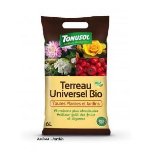 Terreau Universel Bio, sac de 6 L, toutes plantes et jardins, jardinage, potager, achat, pas cher