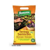 Terreau Semis Bio, sac de 6 L, repiquage, bouturage, toutes plantes et jardins, jardinage, potager, achat, pas cher
