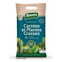 Terreau Cactées Bio, Plantes Grasses,  sac de 5 L, espèces cactées, jardinage, potager, achat, pas cher