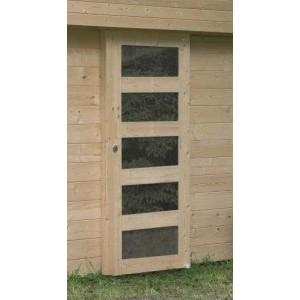 Porte simple, avec vitres, porte complète, abri Solid, achat